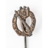 Német Második Világháborús Gyalogsági Rohamjelvény Ezüst Mini - Infanterie-Sturmabzeichen Silber Miniatur