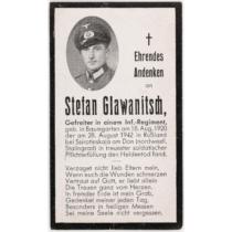 Német Második Világháborús Halálozási Értesítő  - Sterbebild - Sztálingrád