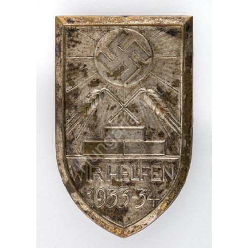 Német Téli Segélyező Jelvény - Wir Helfen 1933-34