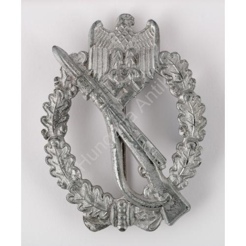Német Második Világháborús Gyalogsági Rohamjelvény Ezüst - Infanterie-Sturmabzeichen
