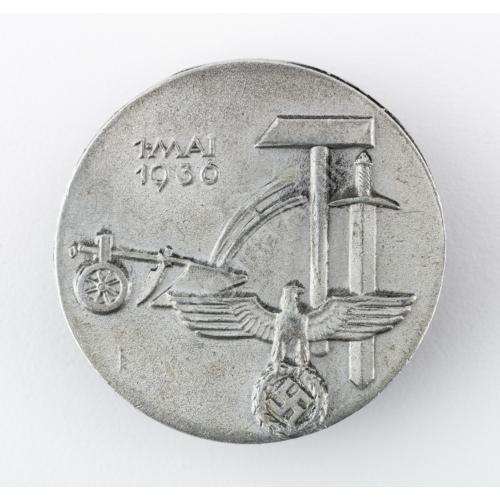 Német Politikai Propaganda Jelvény - Május 1. - Mai 1. 1936.