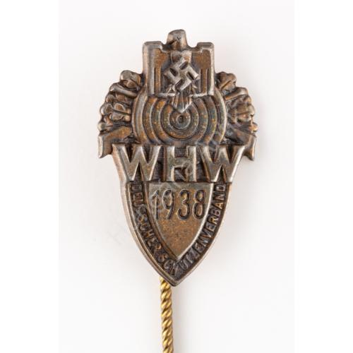 Német Második Világháborús WHW Deutscher Schützenverband 1938. Miniatur  - Téli Hadsegélyező - Német Lövész Szövetség 1938. Miniatűr