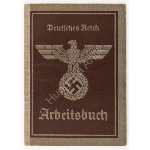 Német Munkakönyv - Arbeitsbuch - 1937. Prima