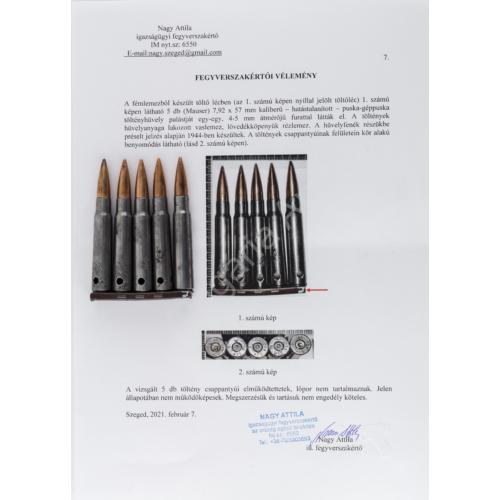 Német Második Világháborús Mauser Töltőléc - Fegyverszakértői Igazolással